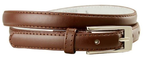 New Classy Womens Skinny Leather Belt with Shiny Buckle Many Colors S-XL (M(34