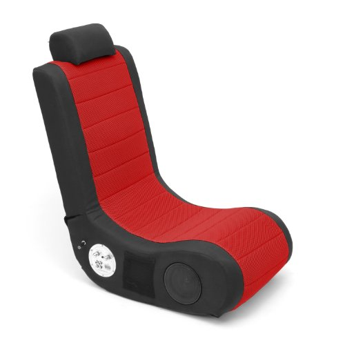 Lumisource Boomchair Gamer Video Game Chair, Red