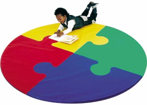 Picture of Childrens Factory Children's Factory Circle Puzzle Mat (B002EDDAG2) (Puzzle Play Mats)