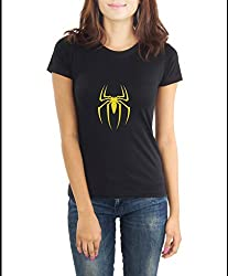 LaCrafters Womens Tshirt - Spiderman Collection_Black_Large