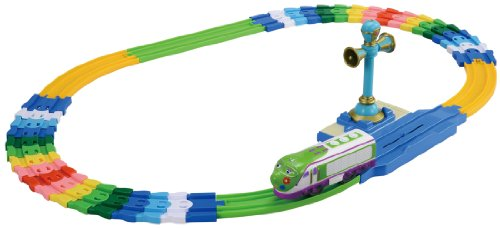 Chuggington Plarail Koko and Vee Colorful FLEXI Curved Rail Set (Tomica PlaRail Model Train) (japan import)