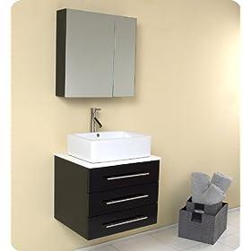 Fresca Modella Espresso Modern Bathroom Vanity w/Ceramic Sink & Medicine Cabinet