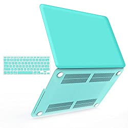 iBenzer - 2 in 1 Soft-Touch Plastic Hard Case Cover & Keyboard Cover for 13 inches Macbook Pro 13.3'' with Retina display (Model: A1502 / A1425 ), Turquoise MMP13R-TBL+1