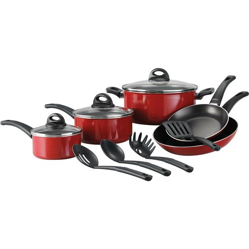Tramontina 12-Piece EveryDay Nonstick Cookware Set (Red)
