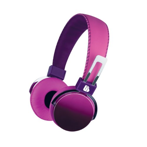 Merkury Urban Beatz Ombre Purple/Pink Noise Isolating Power Headphones