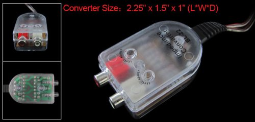 Line Input To 2 Channel Rca Audio Car Speaker Converter