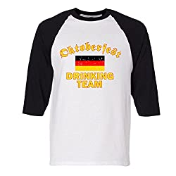 Oktoberfest Drinking Team Raglan Baseball T-Shirt