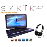 Sykik SYDVD0116 10.1'' Inch All multi region zone free HD swivel portable dvd player,USB,SD card slot with headphones , Ac adaptor ,car adaptor Remote control (one year waranty) Black