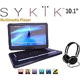 Sykik SYDVD0116 10.1 Inch All Multi Region Zone Free HD Swivel Portable DVD Player USB SD Card Slot With Headphones...