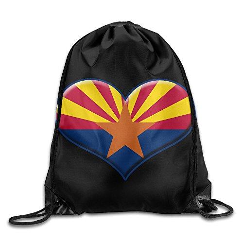 MYKKI Heart Of Arizona Flag Personality Pocket Canvas