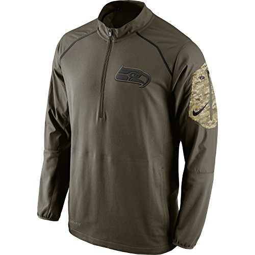 Seattle Seahawks 2015 NFL Salute to Service Men's Nike Hybrid 1/4 Zip Pullover Jacket (X-Large) (Seahawks Salute To Service Hat compare prices)