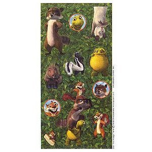 Over the Hedge Stickers - 4 Sheets - 1