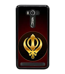 Khanda Sahab 2D Hard Polycarbonate Designer Back Case Cover for Asus Zenfone 2 Laser ZE550KL (5.5 INCHES)