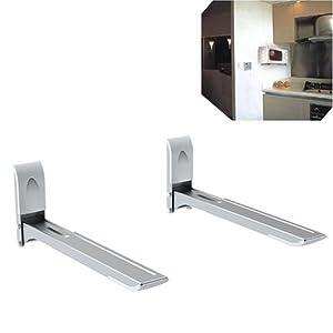 Mikrowelle Universal Halter Wandhalter für Mikrowelle / Microwelle Ausziehbar *DURCHDACHT*