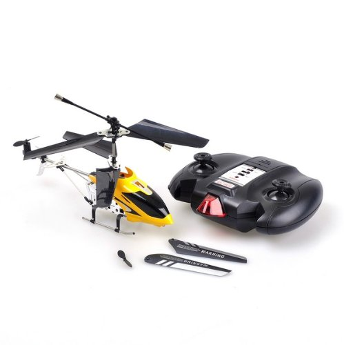 Yellow Small Lanneret RC Helicopter With USB Cable