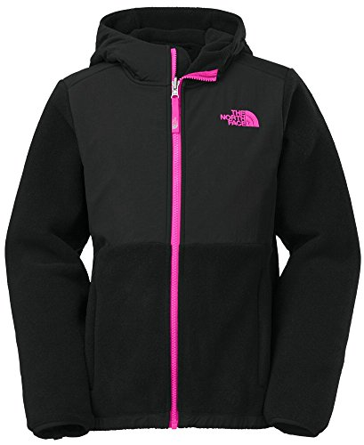 The North Face Denali Hoodie Girl'S Recycled Tnf Black/Azalea Pink S