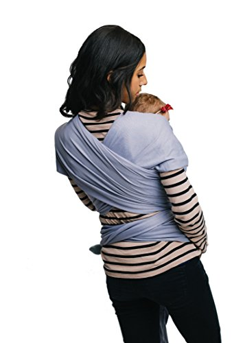 Baby Wrap Sling Carrier – Grey – Quality (95% Cotton / 5% Spandex) – For Mothers with Newborn to 35lbs Babies – By Belephant Baby