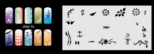 Fingernagel Schablone (airbrush nail art) Fengda JFH04-074