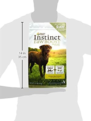 Instinct Raw Boost Grain-Free Chicken Meal Formula Dry Dog Food by Nature's Variety 4.1 lb Bag