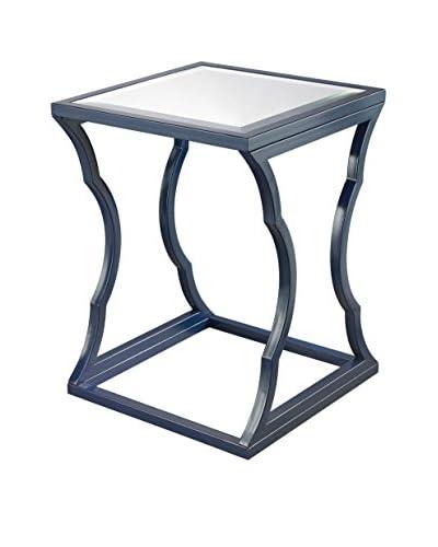 Artistic Lighting Metal Cloud Side Table, Navy Blue