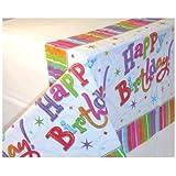 Amscan International Radiant Birthday Plastic Tablecover