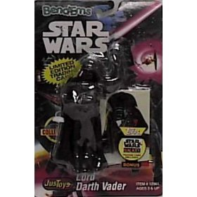 Star Wars Bend-Ems Darth Vader Figure with Limited Edition Trading Card - 1