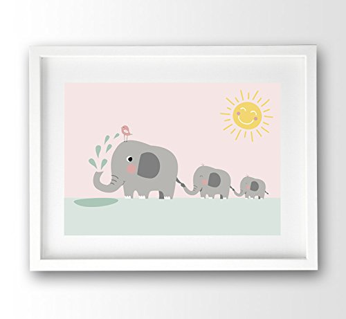 kinderposter-elefanten-familie-pastellfarben