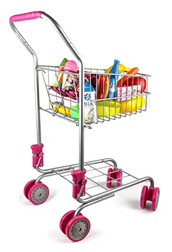 Precious-Toys-Kids-Toddler-Pretend-Play-Shopping-Cart-with-Groceries