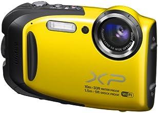 Fujifilm FinePix XP70 Fotocamera Digitale, 16 Megapixel, Sensore CMOS, Impermeabile Fino a 10 Metri, Gialla