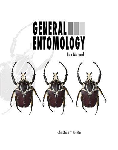 GENERAL ENTOMOLOGY LABORATORY MANUAL