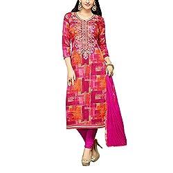 Applecreation Multi Cambric Dress Material