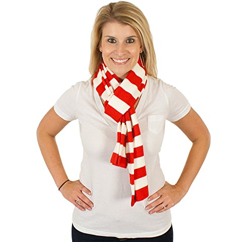 Candy Cane Scarf in Red-White By Festified