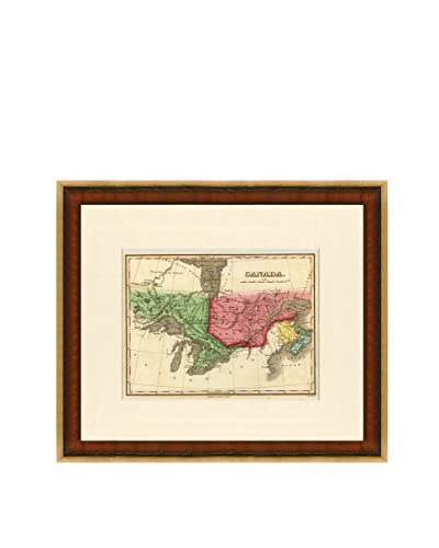 Map Antiquities Antique Map Of Canada, 1824-27, Multi