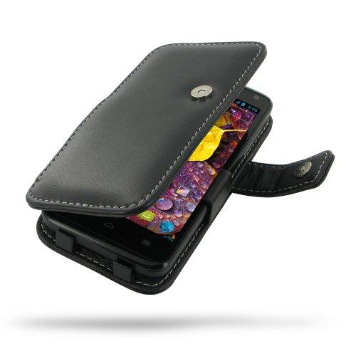 Huawei Ascend D1 Quad Xl Leather Case - U9510E - Book Type (Black) By Pdair