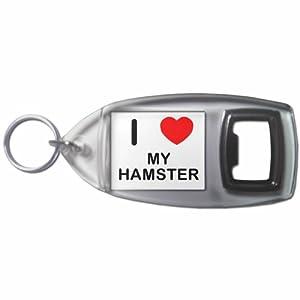 I Love My Hamster - Botella plástica del anillo dominante del abrelatas