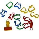 Generic Set Of Colorful Plasticine Cookie Cutter Molds Moulds Tool With Various Animal Plants Shapes