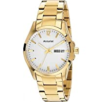 Accurist MB985W Mens White Gold Watch