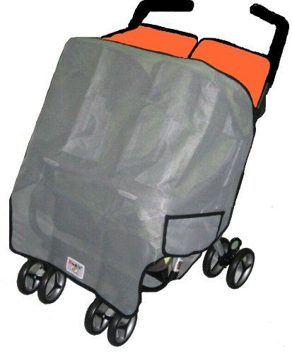Sashas Sun, Wind and Insect Cover for Maclaren Twin Triumph and Twin Techno Double Side by Side Stroller Model (Discontinued by Manufacturer)