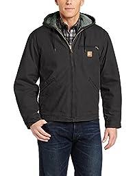 Carhartt Men\'s Sherpa Lined Sandstone Sierra Jacket J141,Black,Medium