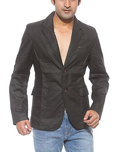 Spykar Men Cotton Black Regular Fit Jackets