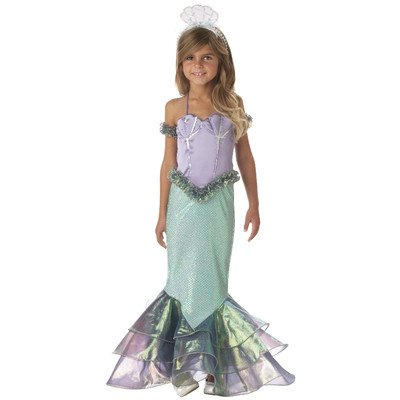 InCharacter Costumes, LLC Little Girls' Magical Mermaid Gown Set