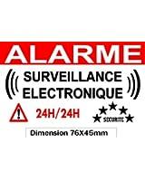 """Autocollant de dissuasion """"alarme surveillance électronique"""" lot de 10 pièces réf AS10"""
