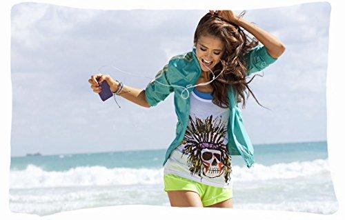 Microfiber Peach Standard Soft And Silky Decorative Pillow Case (20 * 26 Inch) - Nature Beaches Headphones Brunettes Women Beach Models Nina Dobrev Running Nature Beaches