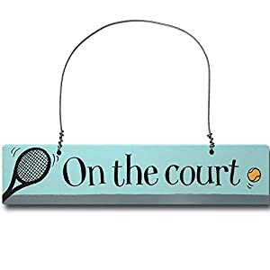 'On Court' Door Sign - 23 x 4.5 cm GREAT GIFT TENNIS PLAYERS AND FANS