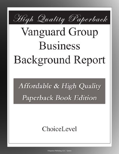 vanguard-group-business-background-report