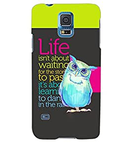 ColourCraft Quotes Back Case Cover for SAMSUNG GALAXY S5 NEO