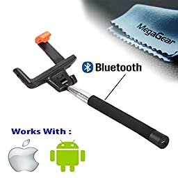 MegaGear Wireless Bluetooth Extendable Self-portrait Monopod with Built-In Remote Shutter Function For Go Pro Series , Camera and iPhone 6/5S/5C/5 (Black)