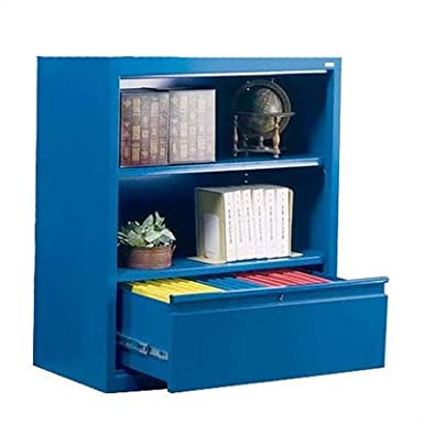 Sandusky Lee BD10361842-01 System Series Bookcase with File Drawer, Red