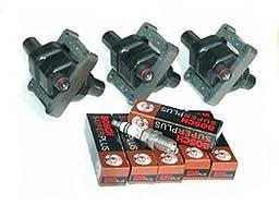 IC25 B266*3 C084*6 UF137 0221506444 94-98 Mercedes Benz 3 Ignition Coil + 6 Plugs C280 C230 E320 S320 94 95 96 97 98