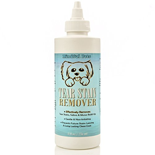 Dog Tear Stain Remover - Most Effective White Fur Eye Treatment - Best Solution For Removing Saliva and Mucus Build Up In Maltese, Chihuahua, Shih Tzu and Alike, 8oz (Tear Stain Remover For Maltese compare prices)